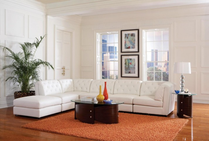 Quinn White Sectional
