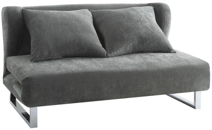 Gray Velvet Sofa