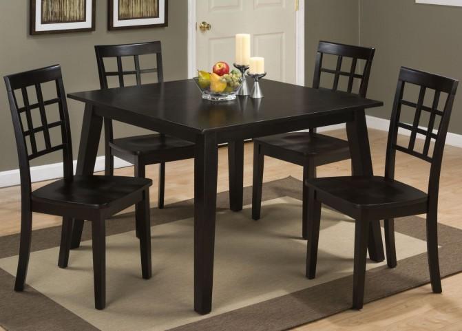 Simplicity Espresso Square Dining Room Set