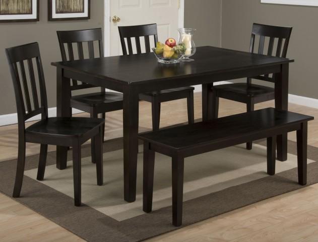 Simplicity Espresso Rectangular Dining Room Set