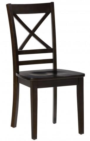 Simplicity Espresso X Back Chair Set of 2