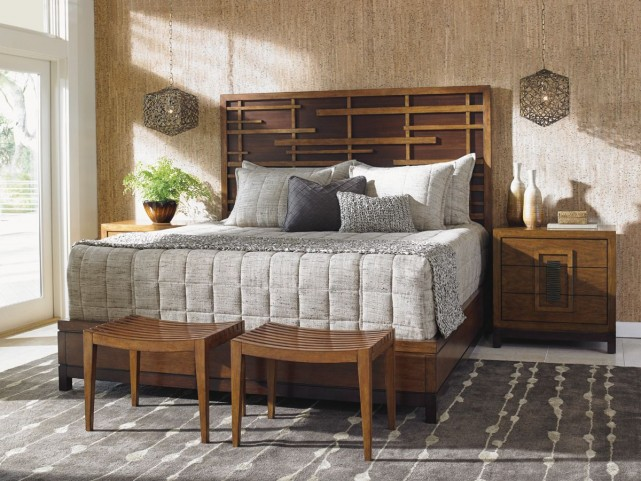 Island Fusion Shanghai Panel Bedroom Set