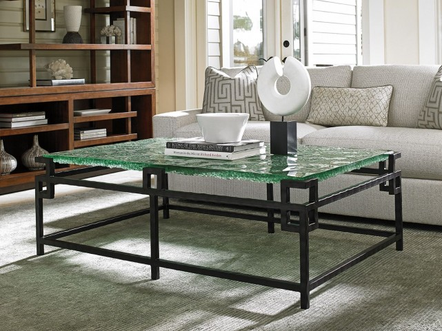 Island Fusion Hermes Reef Glass Top Occasional Table Set