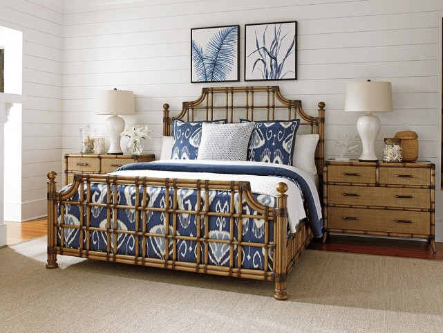 Twin Palms St. Kitts Rattan Panel Bedroom Set