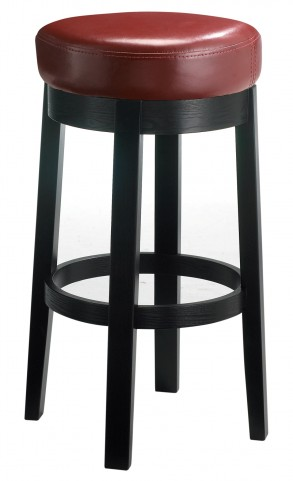 Cedric Oxblood Swivel Barstool