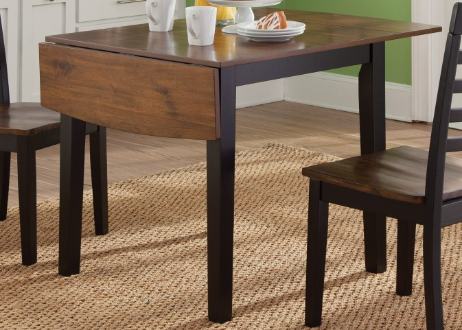Cafe Black and Cherry Drop Leaf Table