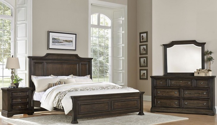 Affinity Dark Roast Mansion Bedroom Set