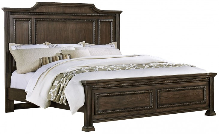 Affinity Dark Roast King Mansion Bed