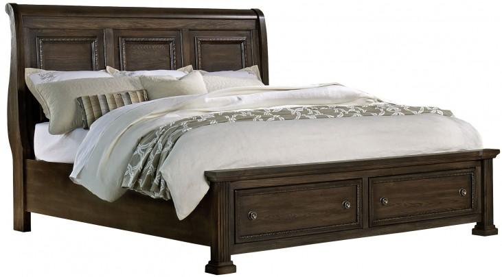 Affinity Dark Roast Queen Mansion Storage Bed