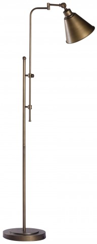 Rush Brushed Bronze Floor Lamp