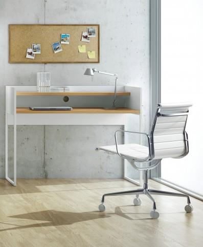 Oslo White with Oak Home Office Desk