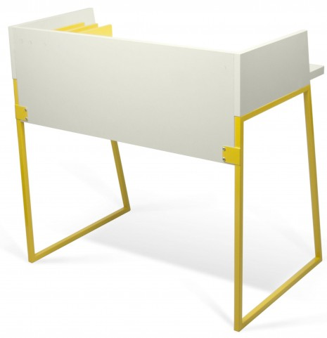 Volga Yellow and Pure White Desk