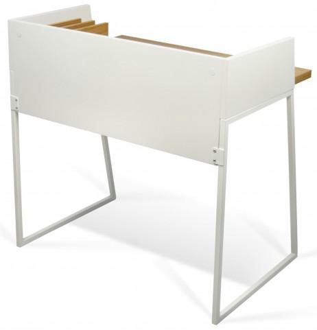 Volga Oak and Pure White Desk