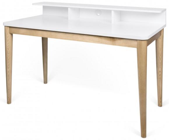 Xira Pure White and Oak Desk