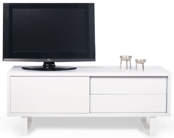 Nilo Pure White Door TV Table