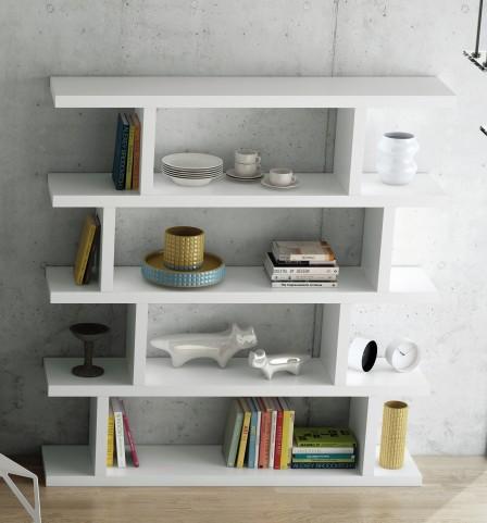 White Step High Bookcase