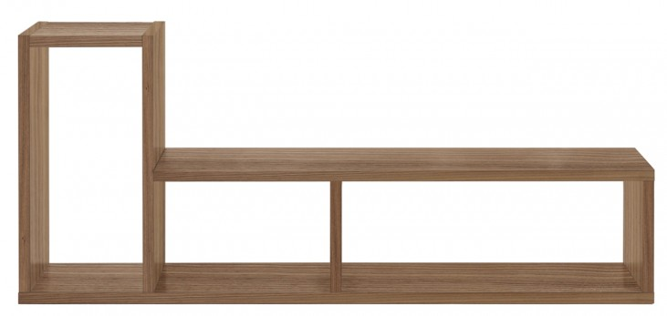 Domino Walnut Duo Shelving Unit