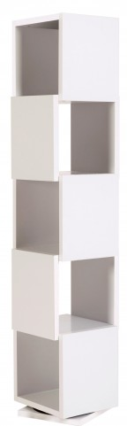 Shell White Tall Rotating Shelving Unit