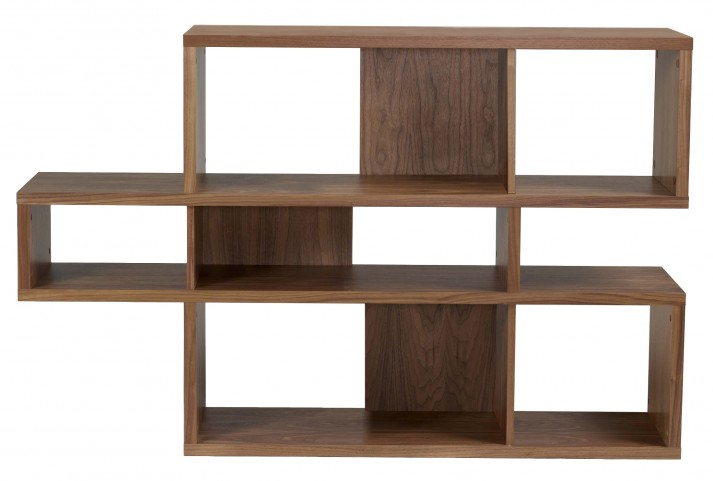 London Walnut Frame With Walnut Backs 6 Shelf Bookcase