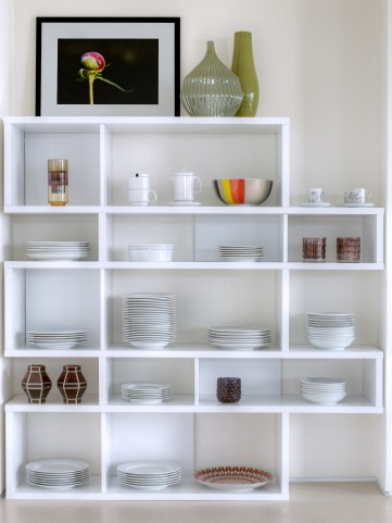 London Pure White Frame with Pure White Backs 10 Shelf Bookcase