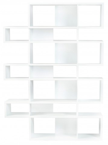 London Pure White Frame with Pure White Backs 14 Shelf Bookcase