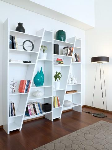 Delta White 4 Piece Bookcase