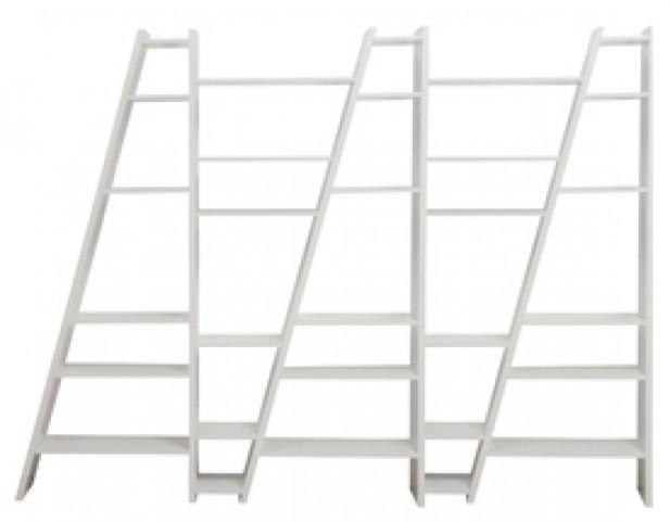 Delta White 5 Piece Bookcase