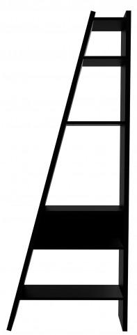 Delta Black Single Bookcase with Back