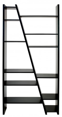 Delta Black 2 Piece Bookcase