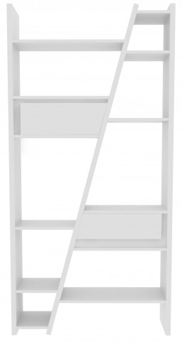 Delta White 2 Piece Bookcase with Back