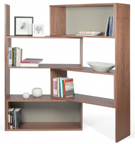 Move Walnut and Matte Grey Shelving Unit