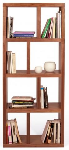 Berlin Walnut 27 Inch 4 Shelf Bookcase