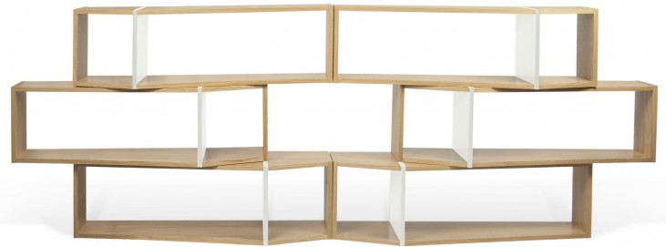"One Module 119"" Pure White Shelving Unit"
