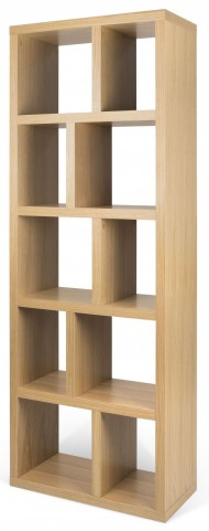 Berlin 5 Levels Oak Shelving Unit