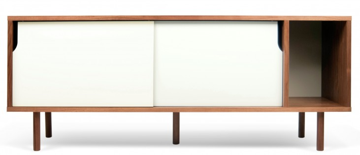 Dann Walnut and White Sideboard