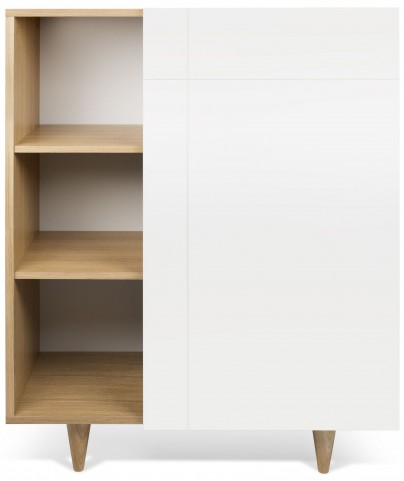 Cruz Oak and Pure White Cupboard