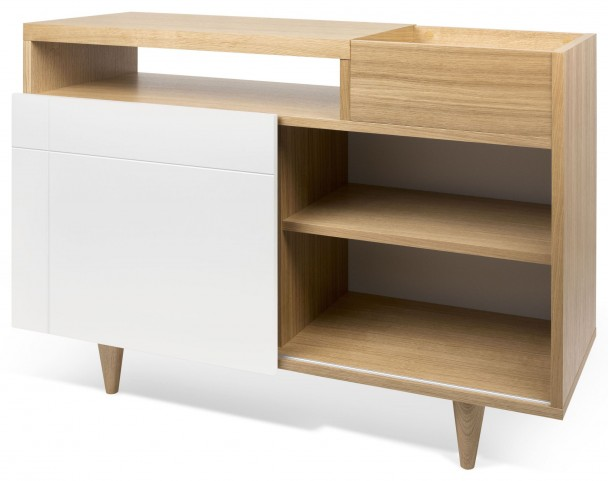 Cruz Oak and Pure White Sideboard
