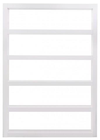 Denso High Gloss White 5 Shelf Bookcase