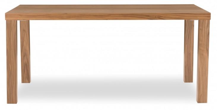 "Multi Walnut 63"" Table Top with Square Veneered Legs"