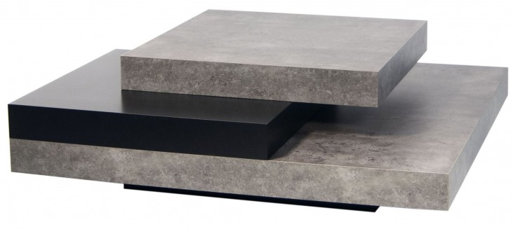 Slate Concrete and Pure Black Coffee Table