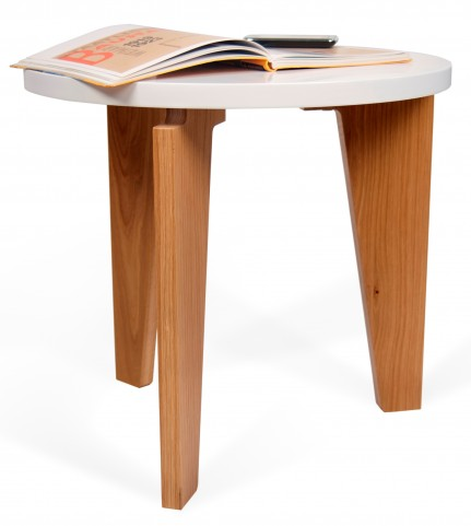 Magnolia White End Table