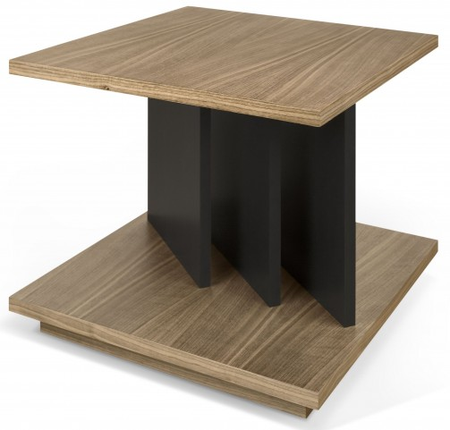 Goa Walnut and Pure Black Side Table