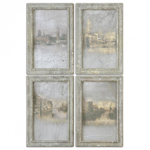 Antique Venetian View Set of 4