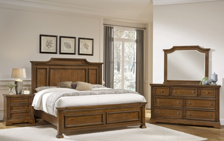 Affinity Antique Cherry Mansion Bedroom Set
