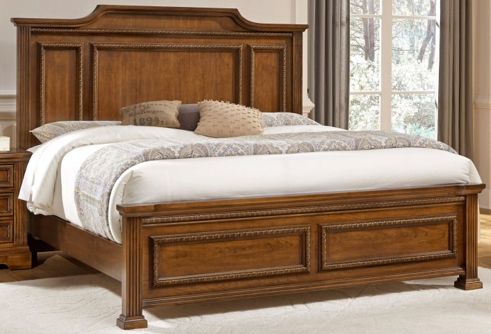 Affinity Antique Cherry Queen Mansion Bed