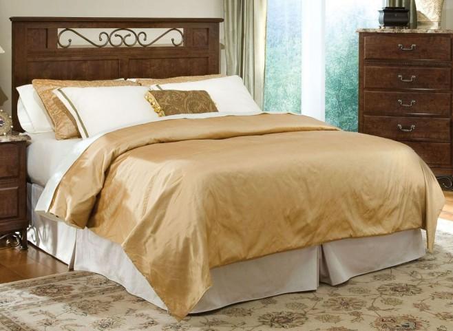 Santa Cruz Warm Brown Cherry King Panel Bed