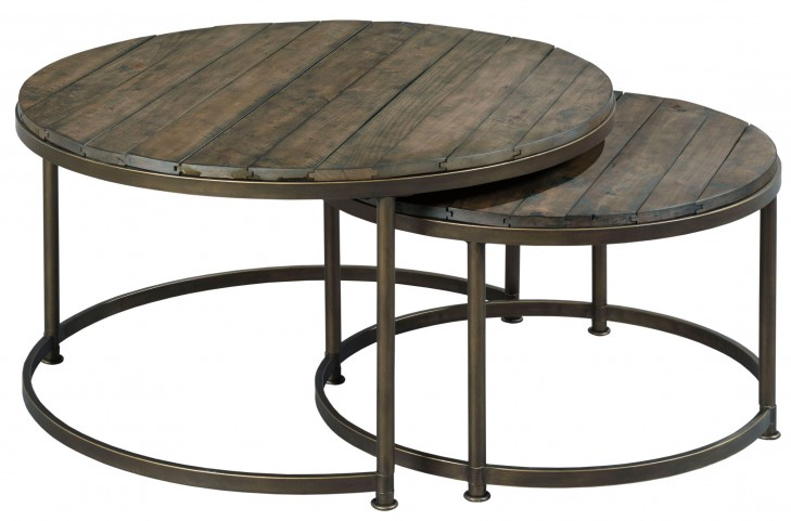Leone Weathered Barn Round Cocktail Table