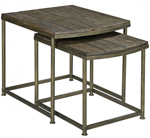 Leone Weathered Barn Nesting End Table