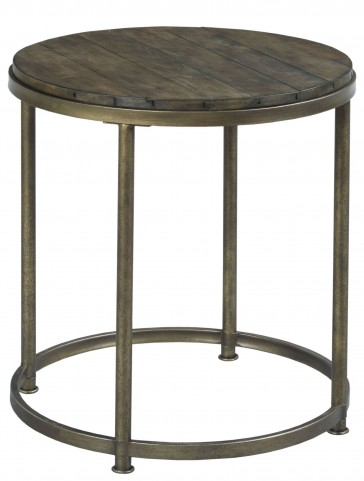 Leone Weathered Barn Round End Table