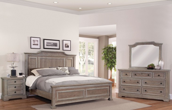 Affinity Reclaimed Gray Mansion Bedroom Set